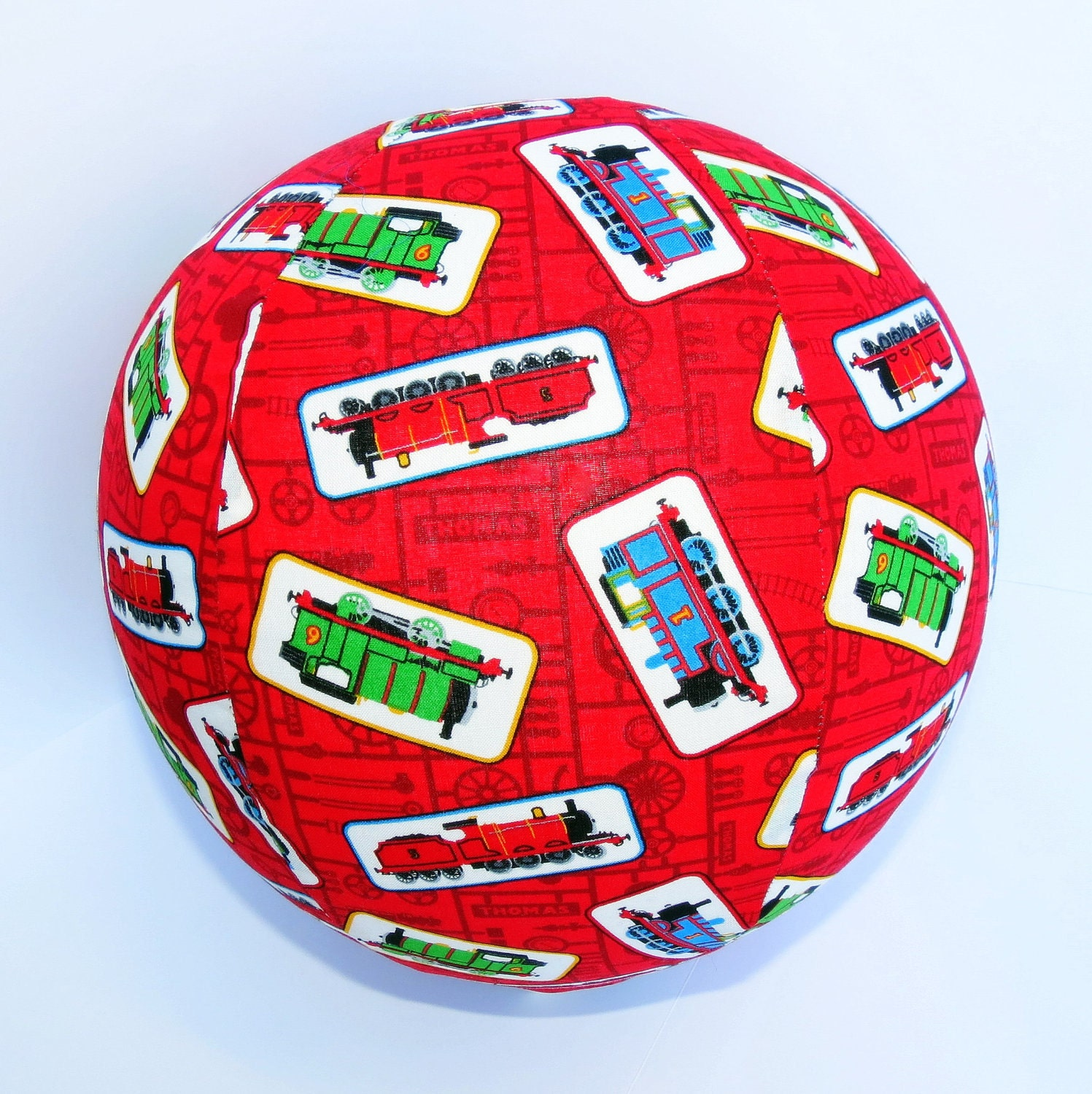 BALLOON BUDDIES, Thomas the Train, balloon ball, red, train, fabric, balloon cover, balloon, ball, toy, boy, boy toy, kids
