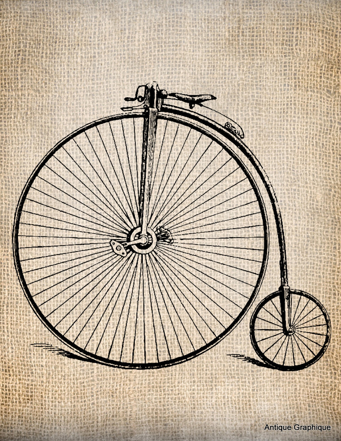 Old fashioned big wheel tricycle Get Rich With Bikes - Mr. Money Mustache