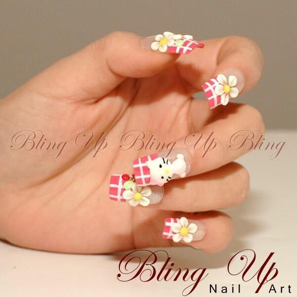 Hello Kitty 9mm. Japanese 3D Hello Kitty Nail