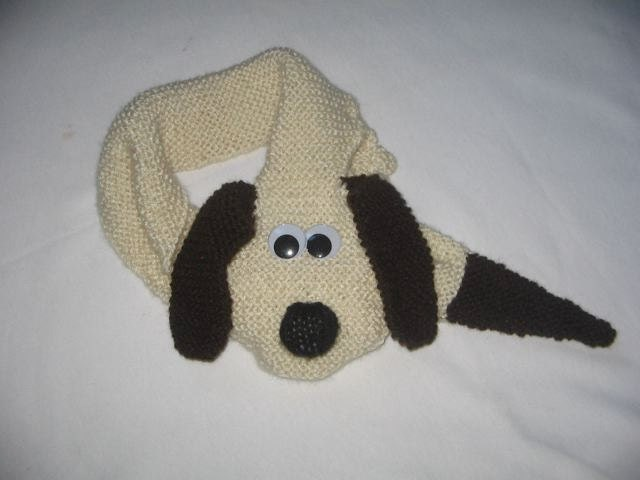 Knitted Dog Pattern : Dog Scarf KNITTING PATTERN downloadable file by RianAnderson
