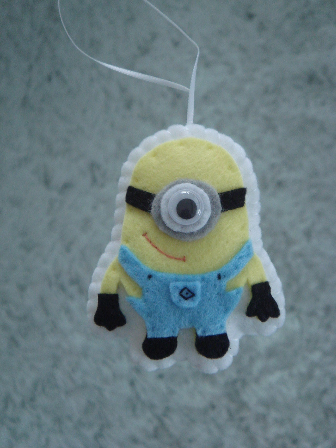 cute felt Despicable Me minion ornament decoration