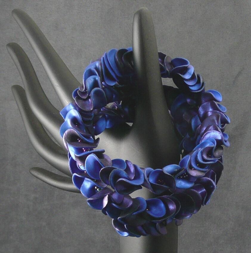 Blue Ruffles Bracelet