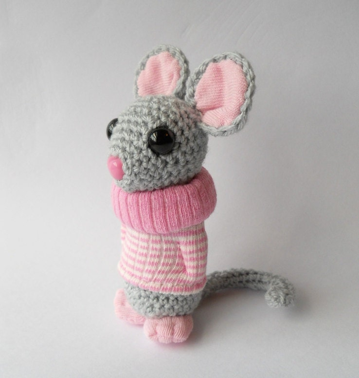 Amigurumi Mouse : mouse Amigurumi crocheted animal plush animal by ...