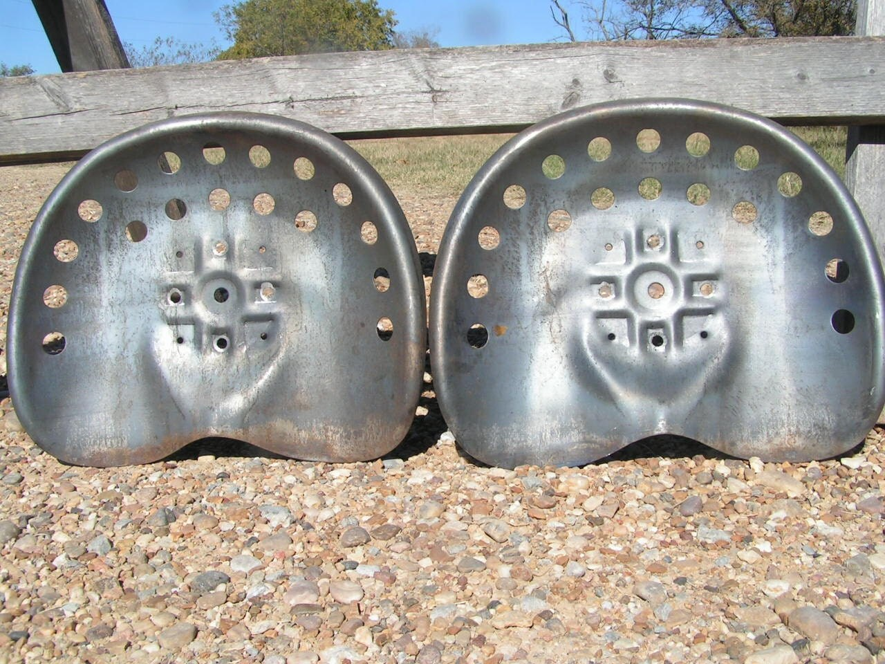 Used Metal Tractor Seats : Two steel tractor metal farm machinery by nafeironworksdesign