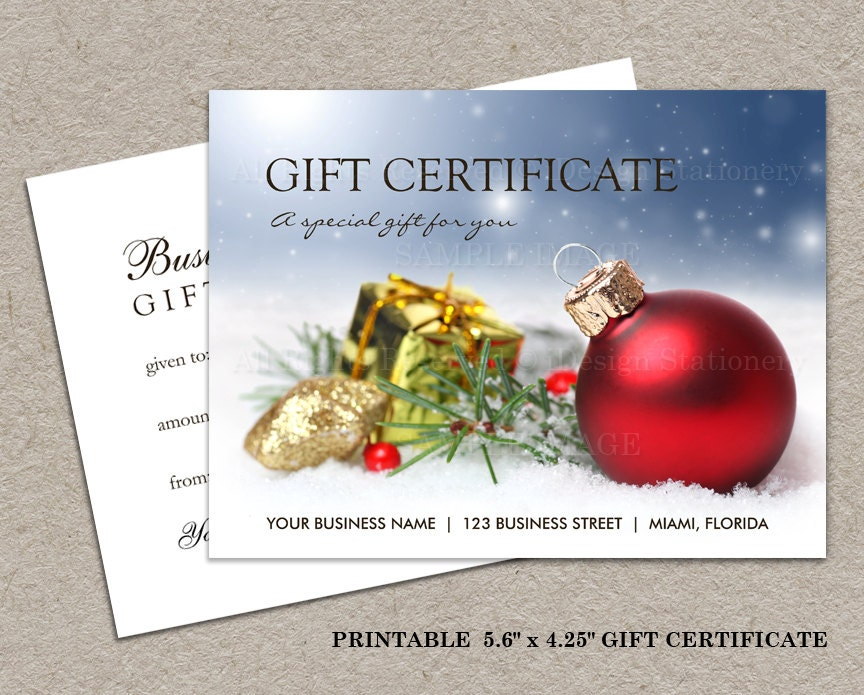Christmas gift certificate printable by idesignstationery on etsy for Diy certificates