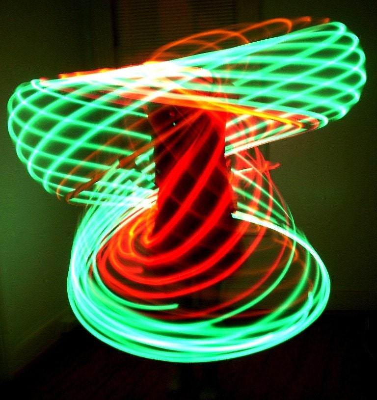 36in Rechargeable Rasta LED Hula Hoop