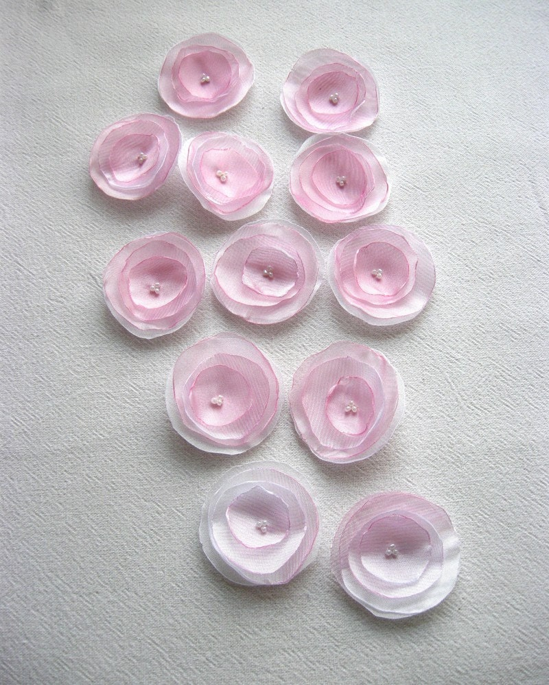 12 ea PINK and WHITE dichromatic Ranunculus Flowers by supplier on Etsy