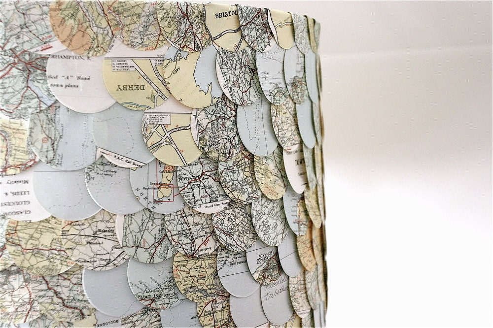 map lampshade, perfect decor for the traveler