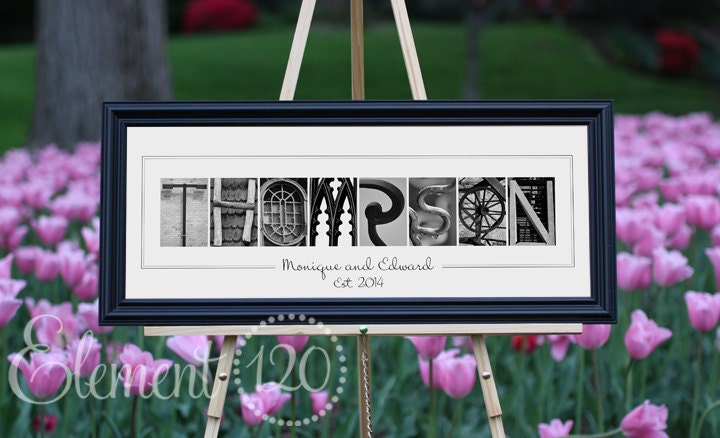 Wedding Gift Alphabet Art : Alphabet Art PhotographyAnniversary, Wedding or Bridal Shower Gift ...