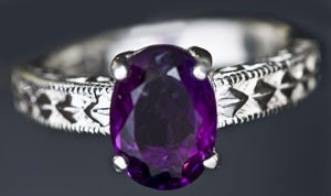 Purple Nights Oval Amethyst Ring