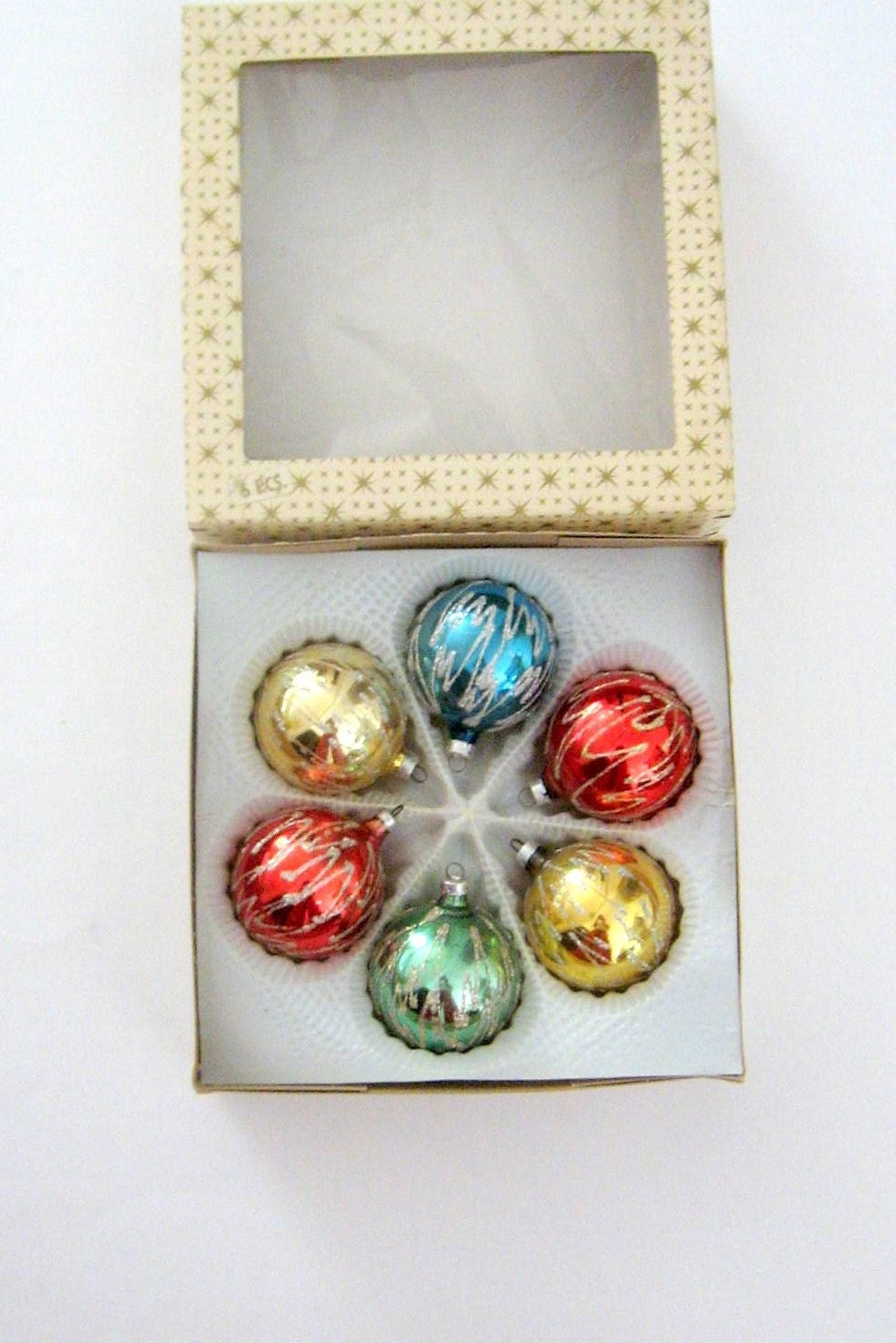SALE-1950s Xmas Ornaments - W Germany Glass