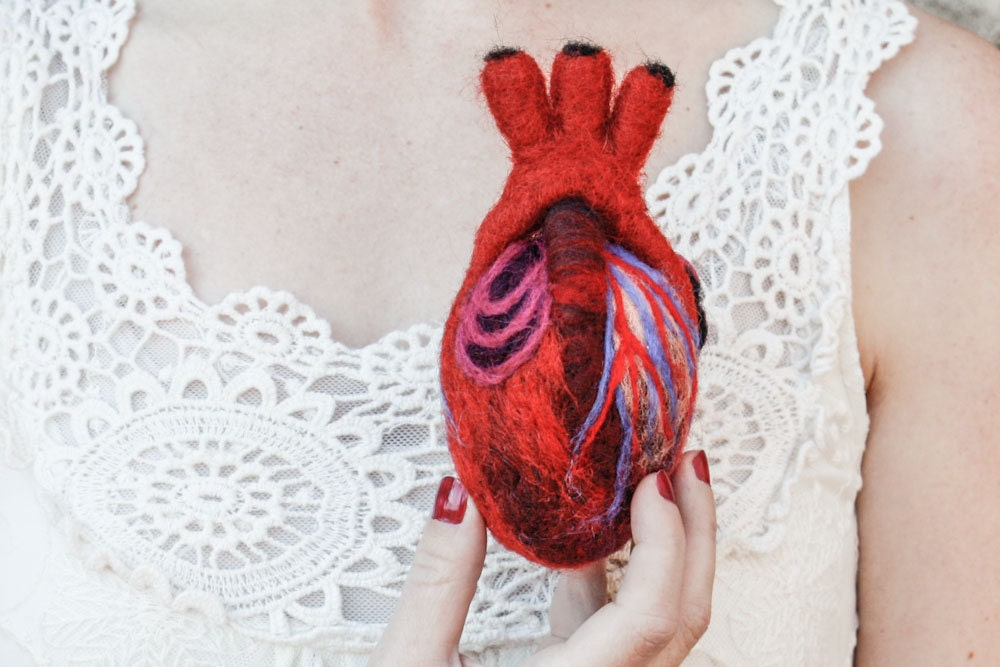 Human-Scale Anatomical Heart in Felt