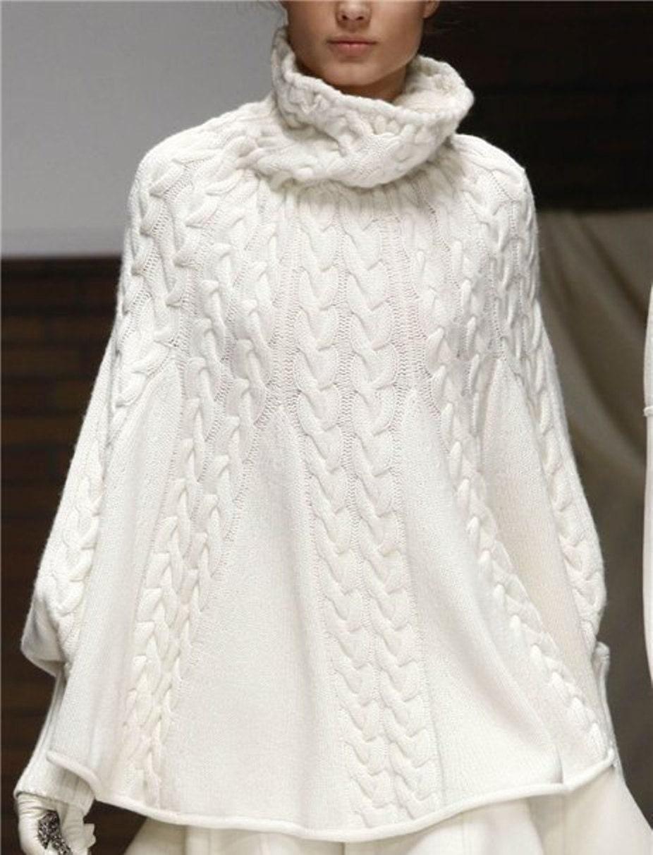 Вязание туник и пончо, модели и схемы - Вязанки.  РУ - Все о. Как вязать пончо спицами?  Вязальное настроение.