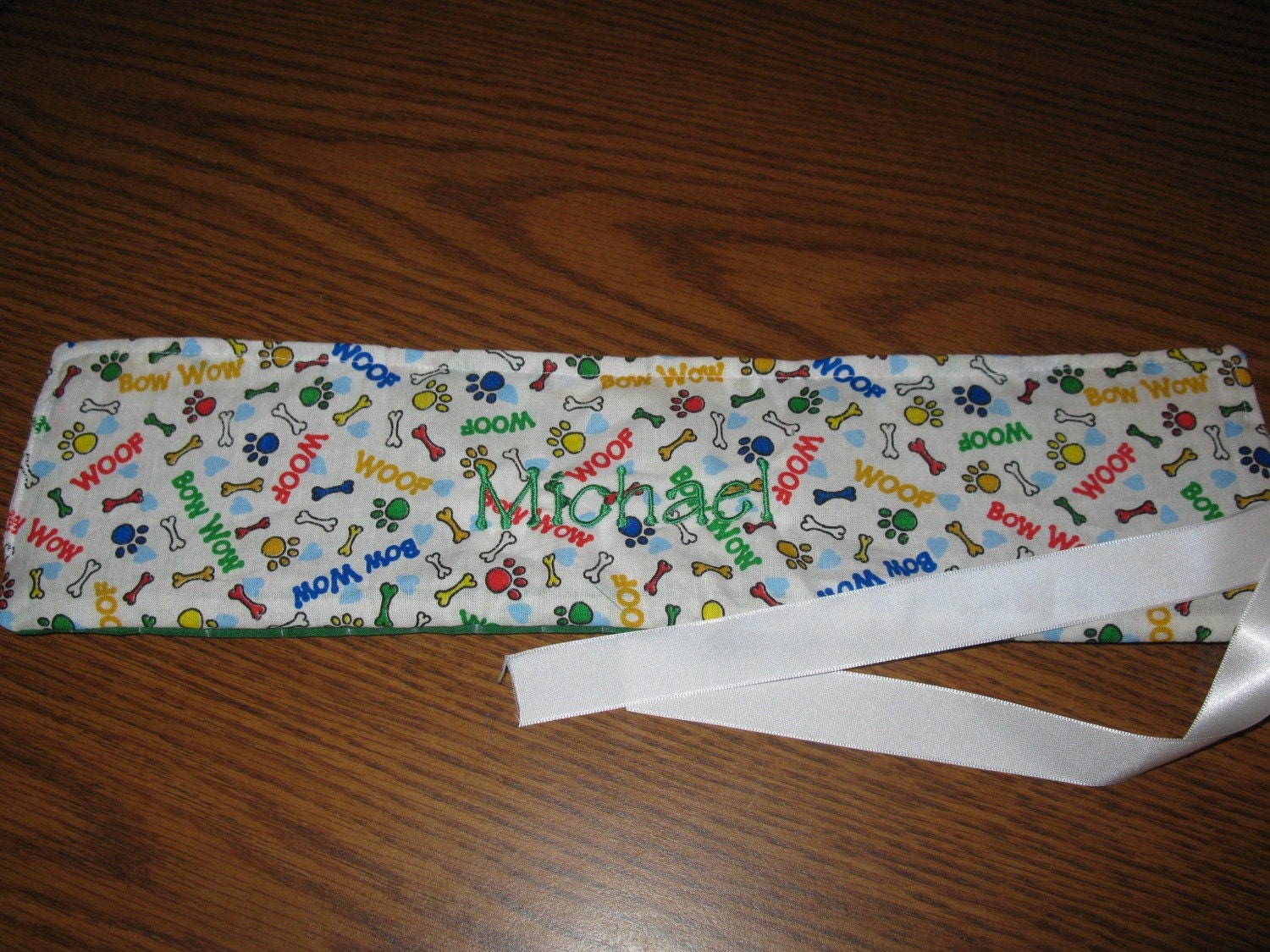 Dog Bone Crayon Roll Crayon Holder Crayon Storage
