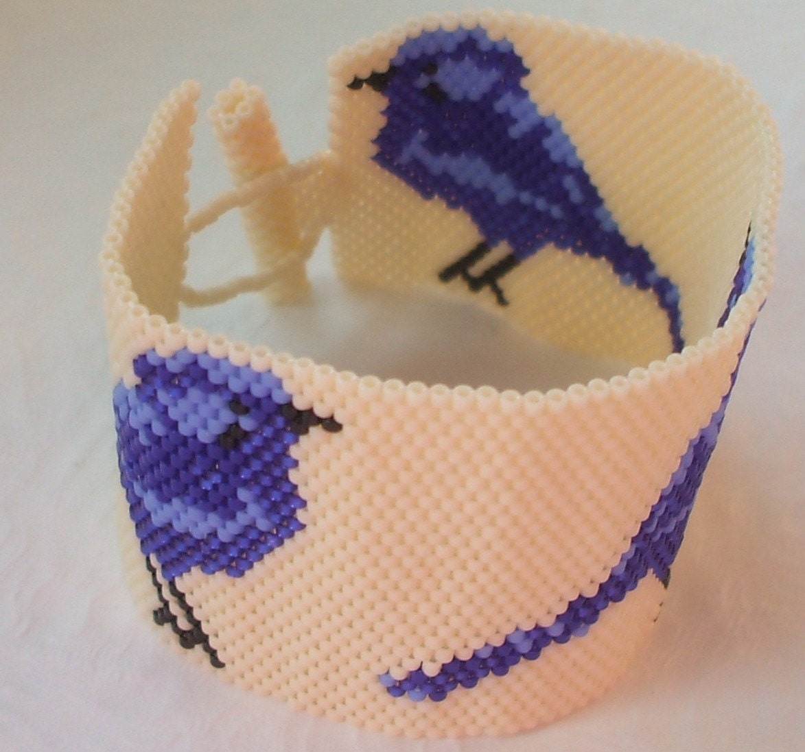 Bluebirds of Happiness Cuff Bracelet