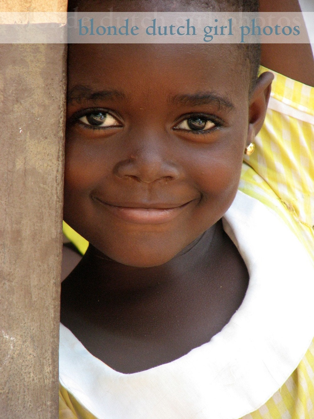"Little Girl in Ghana, Africa (8"" x 10"" photograph) - TheBlondeDutchGirl"