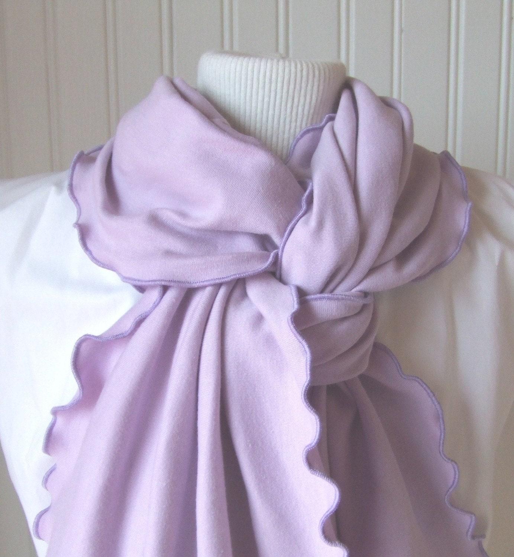 Sweet Lilac.....Ruffled Scarf