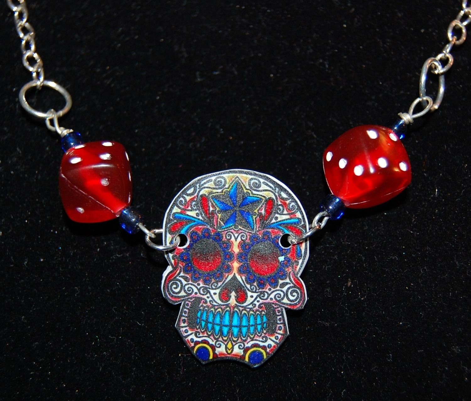 Skull Dice Necklace