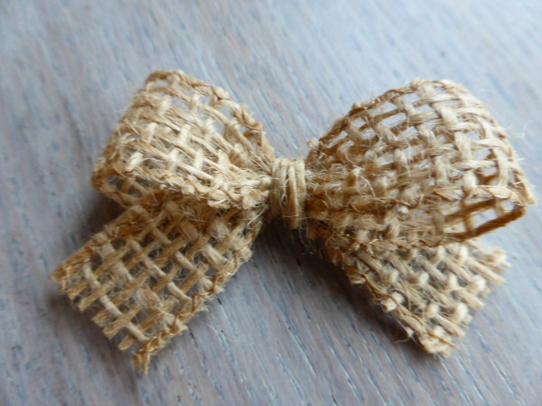 1,8 inches - 6 small burlap bows -Home Decor -