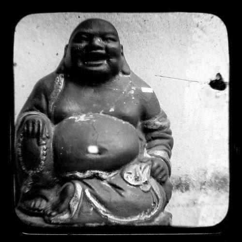 TTV Buddha Photograph black and white 4 x 4 Fine Art Print