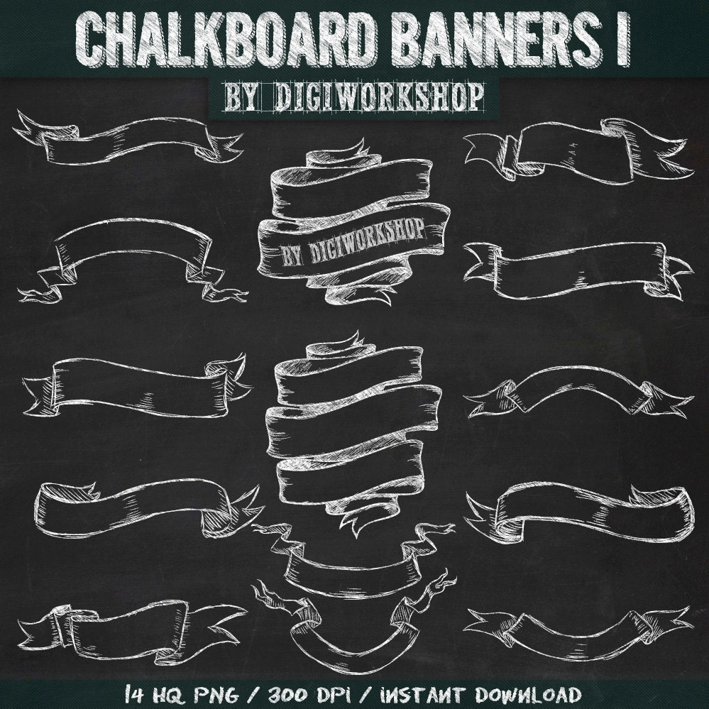 Chalkboard art banners images