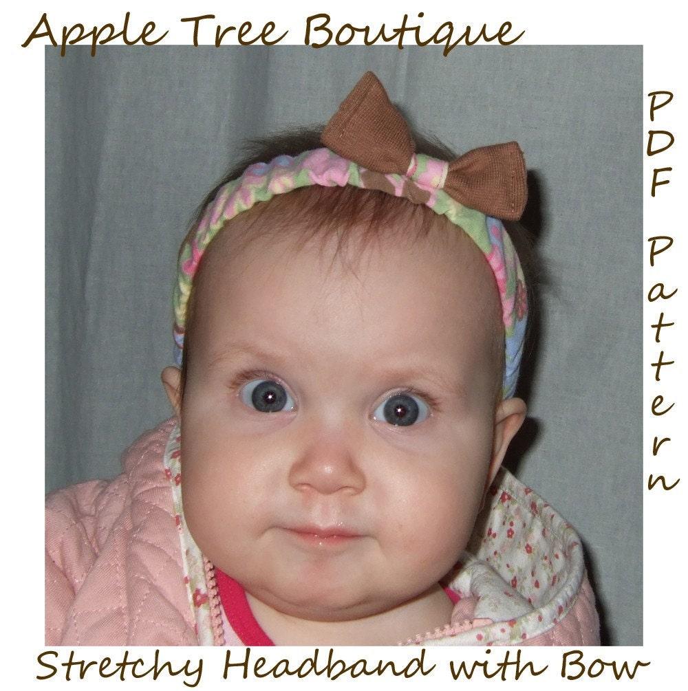 Stretchy Headband with Bow PDF Pattern Ebook