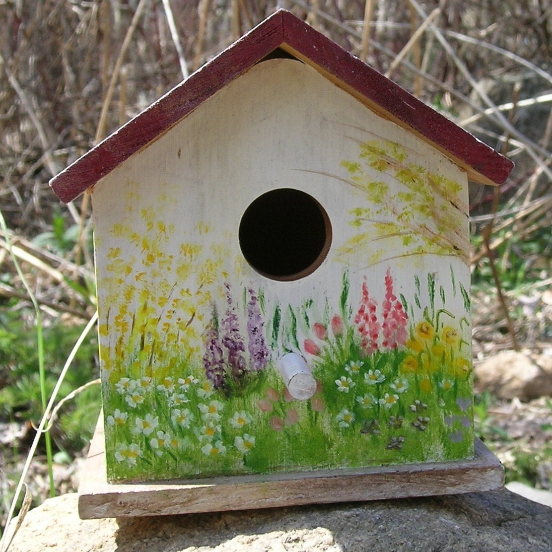 Birds in a Spring Garden - Birdhouse
