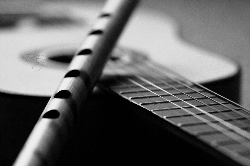 Guitar and Flute Photo - 8x10 fine art print