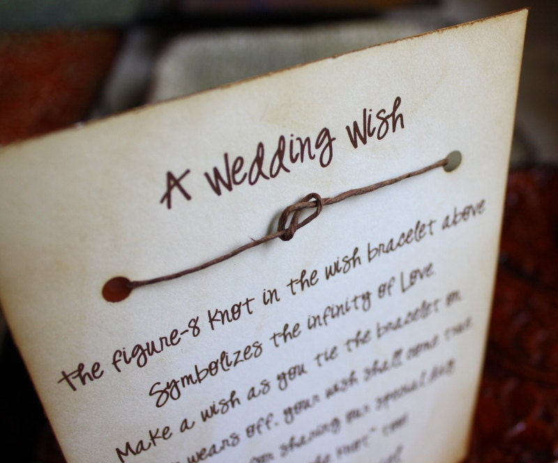 Wish Bracelet Wedding Favors 25 Count By Thepaperynook On Etsy