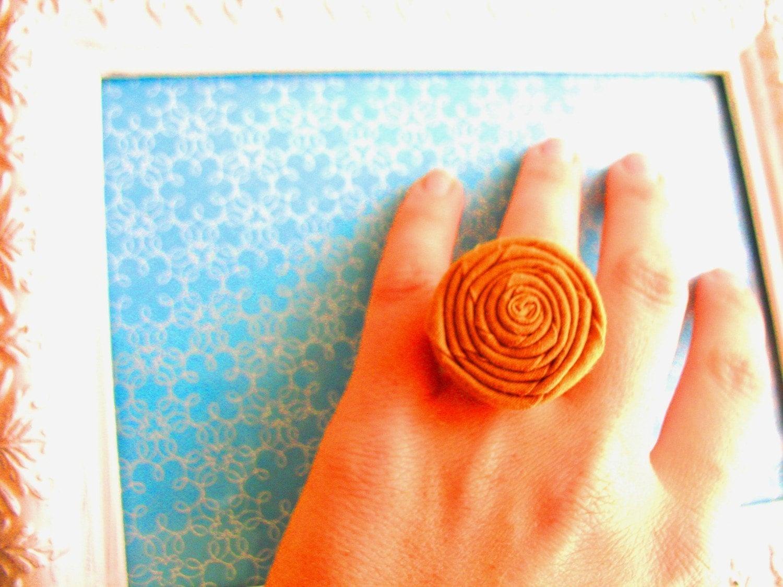 Pick Your Color It's the Big Pumpkin bronze filigree ring