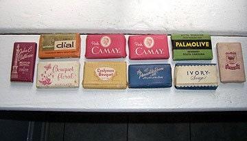 Vintage Hotel Guest Soaps - set of 10