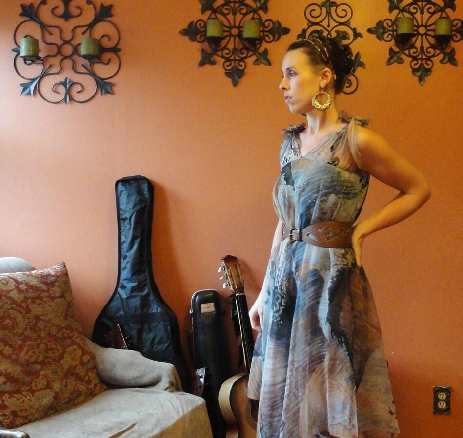 Glamorous sheer boho dress made by Mimosa Tree - KerahsVintageWash