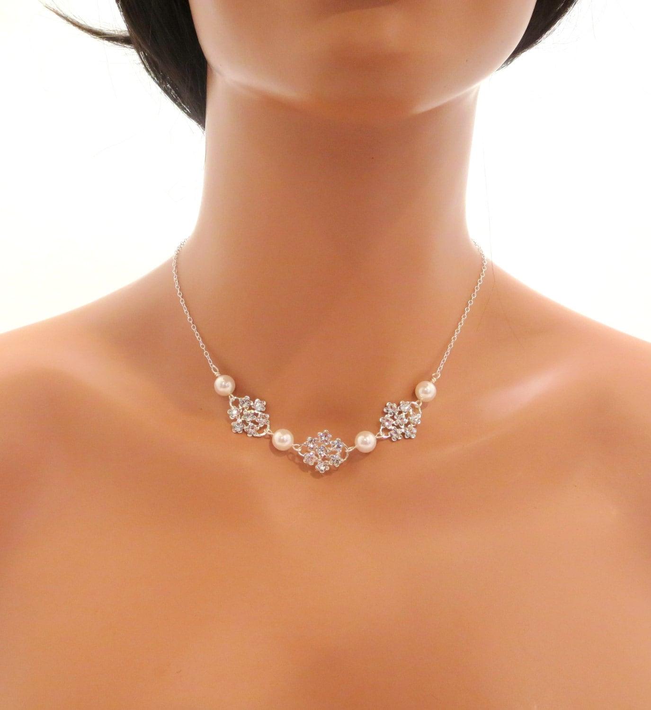Delicate Bridal Necklace Wedding Necklace Wedding By