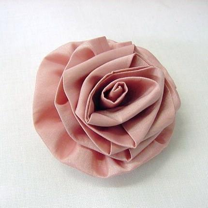 Rosa Fleur - Hand Turned Dupioni Silk Rose in Full Bloom