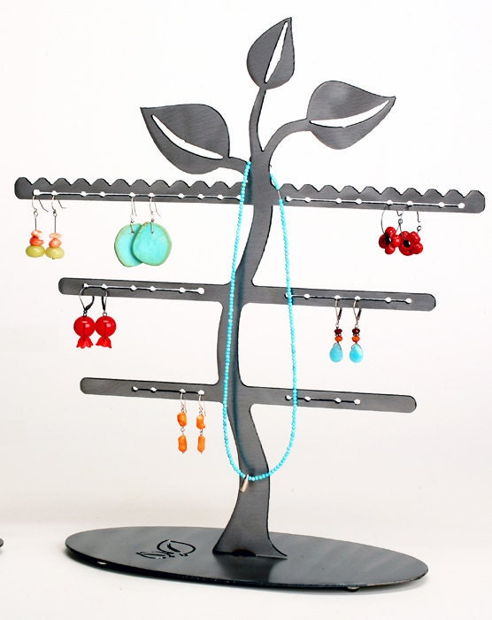 Leaf Trio Earring Tree Jewelry Display