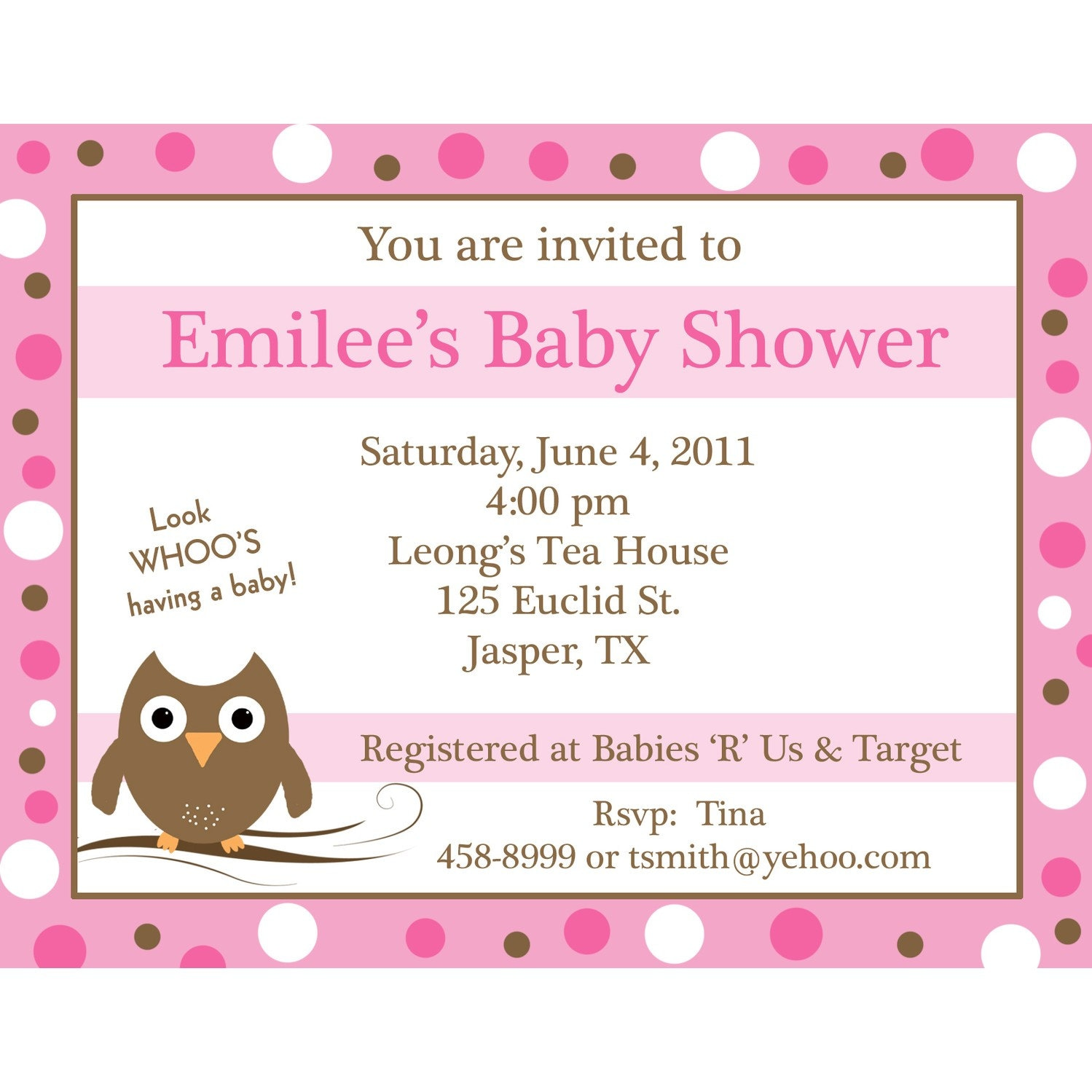 20 personalized baby shower invitations pink baby by partyplace