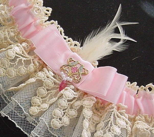 LADY ANTOINETTE  wedding garter A PETERENE exclusive ORIGINAL design
