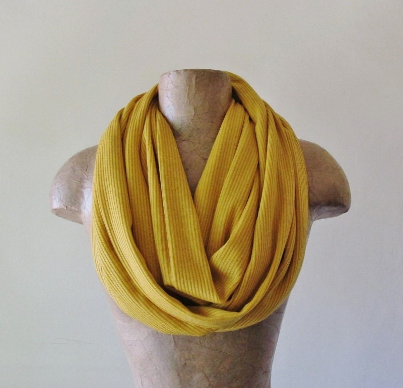 mustard yellow sweater scarf goldenrod infinity scarf by