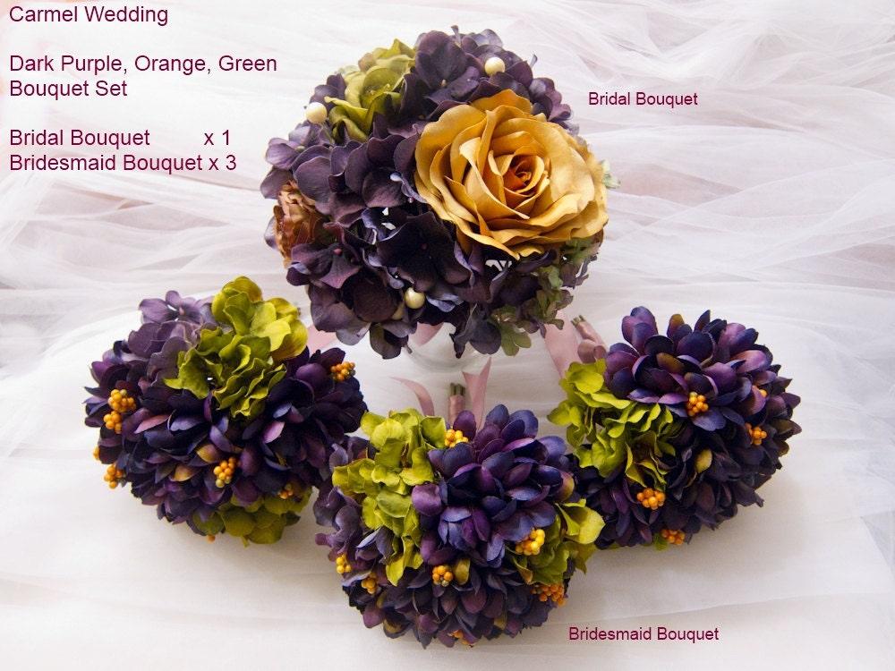 dark purple wedding bouquets