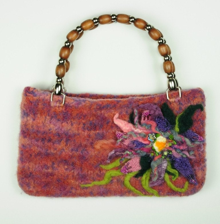 Gardenia Felted Purse