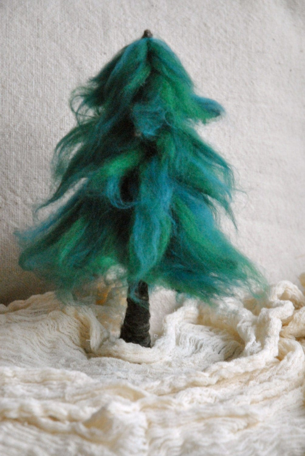 Needle felted Tree Waldorf Inspired : Pine. by MagicWool on Etsy