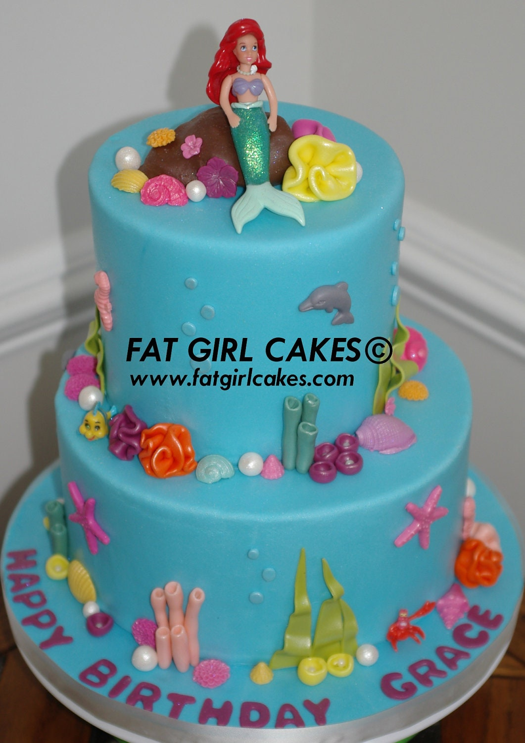 Fondant Under the Sea cake decorations by FatGirlCakes on Etsy