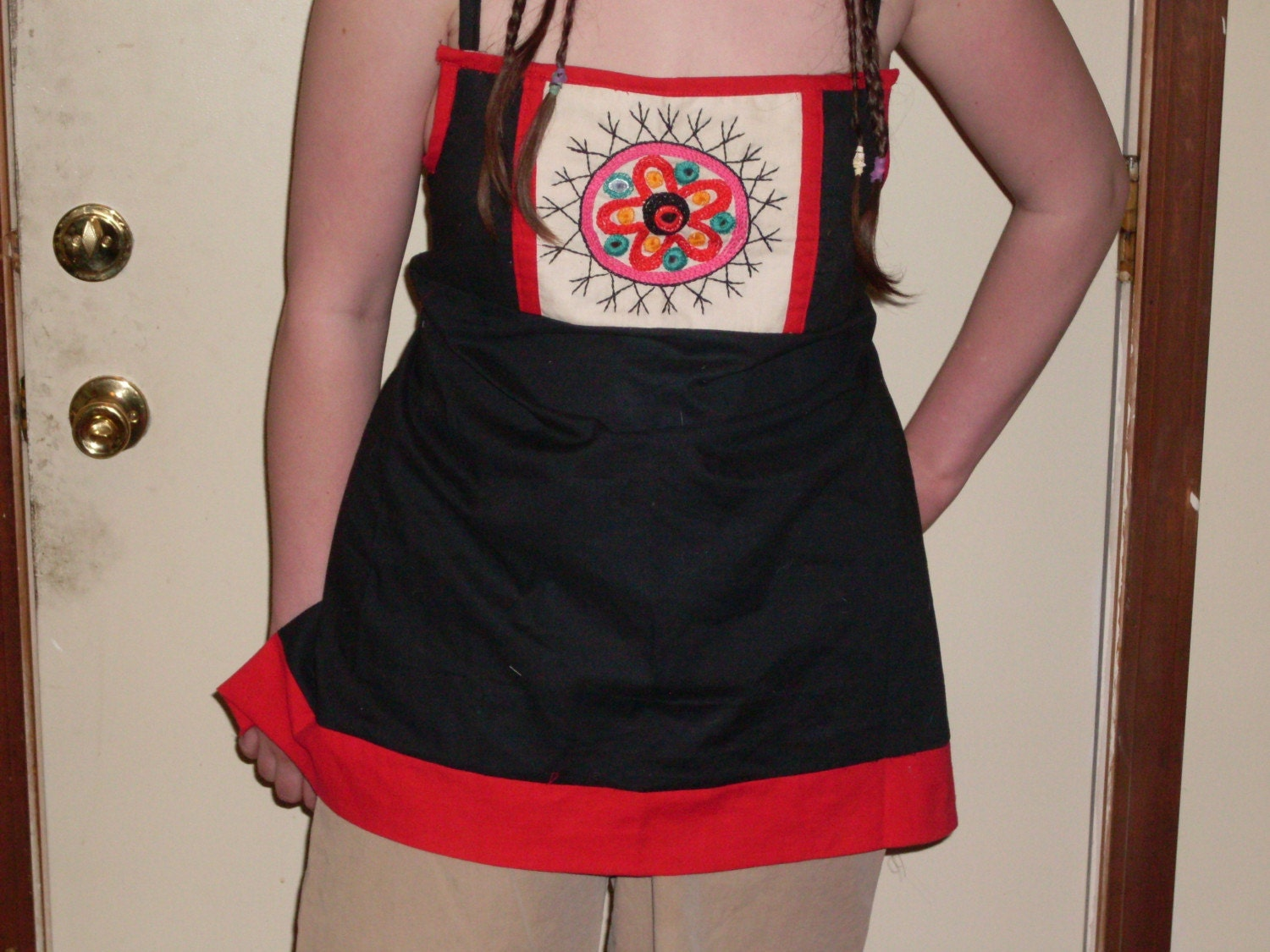Embroidered Apron Top by pgasparotto