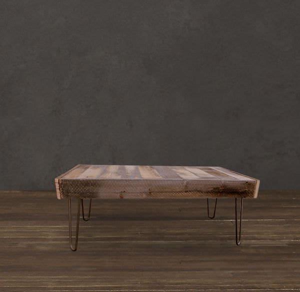Romy Square Metal Coffee Table Am Pm: JW Atlas Wood Co