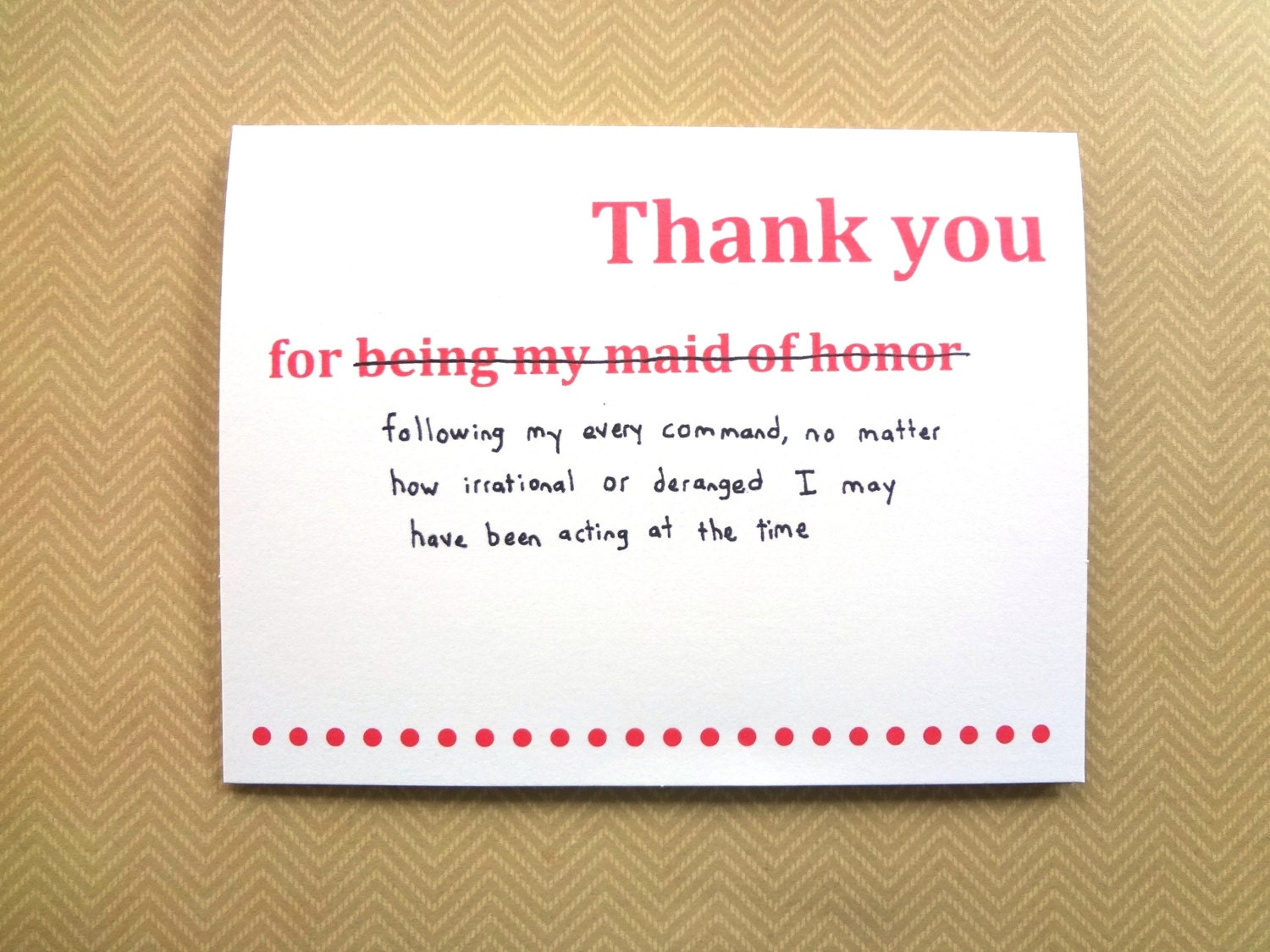 how to thank the bmaids in a moh speech