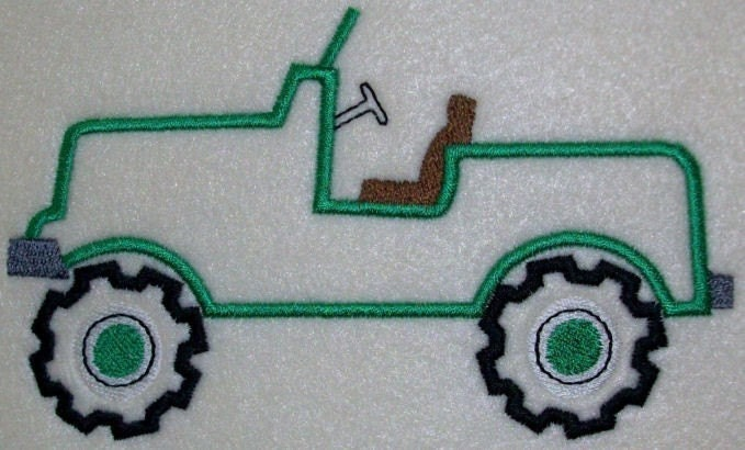 Jeep embroidery machine applique design by kayelee on