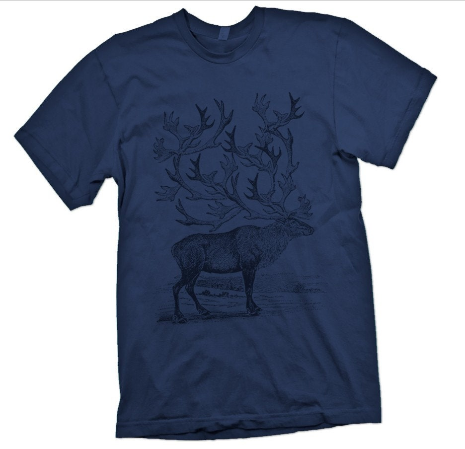 Caribou- Hand-printed Tee Shirt