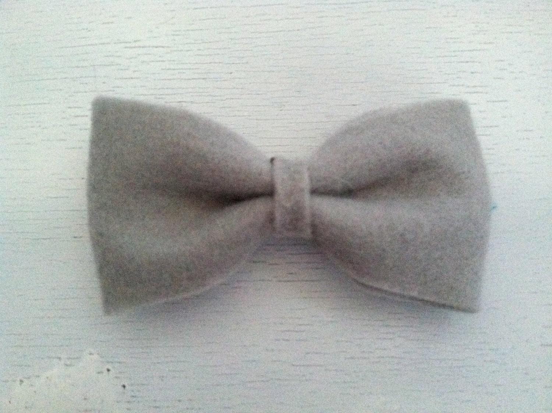 Bow/hair clip/ grey bow clip