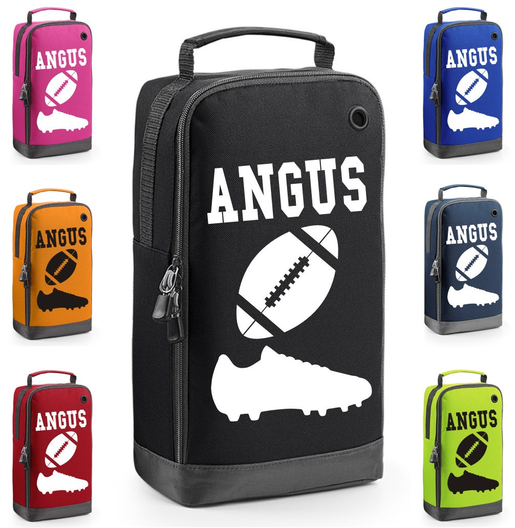 Personalised Rugby Boot Bag with Carry Handle   Free Delivery  New Design for 2017