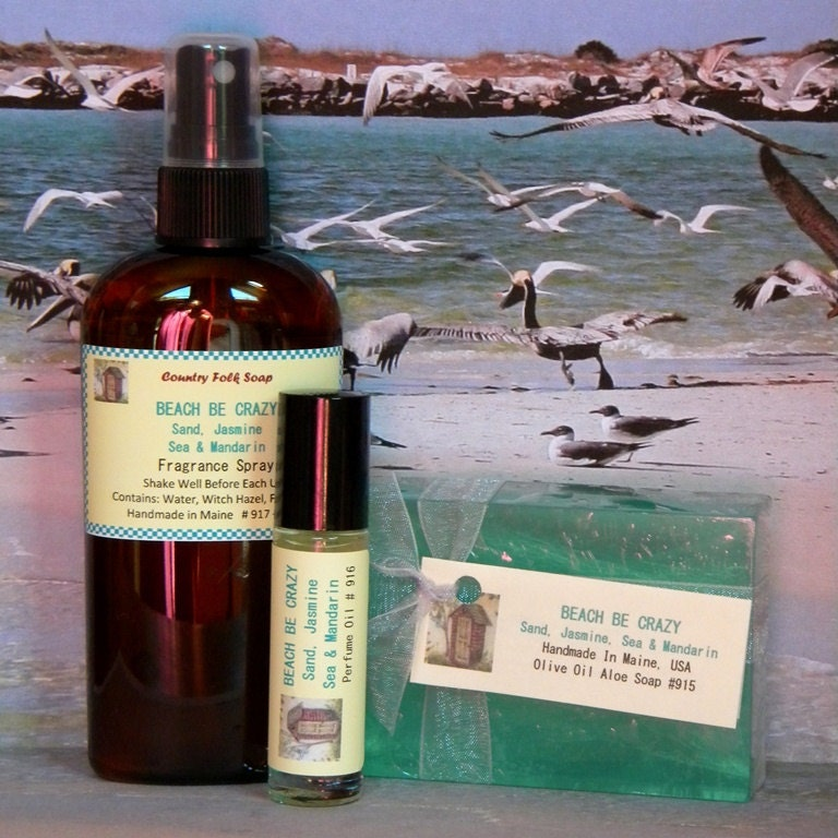 Beach be crazy soap gift set handmade spa set by for Bobbi brown beach soap